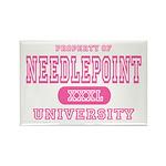 Needlepoint University Rectangle Magnet