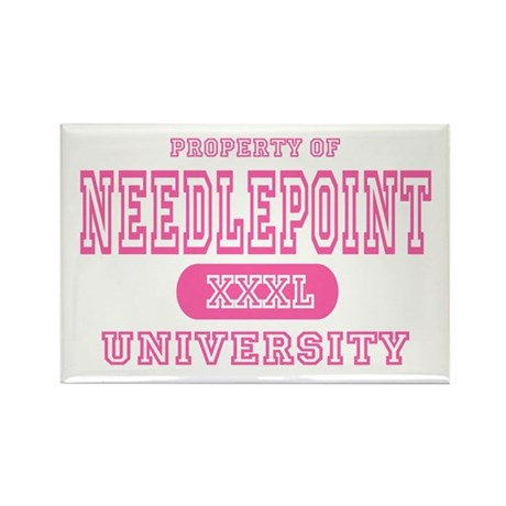 Needlepoint University Rectangle Magnet