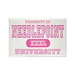 Needlepoint University Rectangle Magnet (10 pack)
