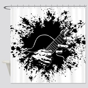 Guitar Hands II -splat Shower Curtain