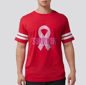 Breast Cancer Survivor Mens Football Shirt