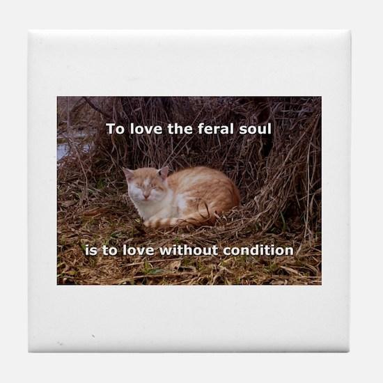 Unique Feral cats Tile Coaster
