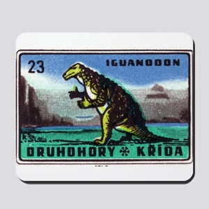 Iguanodon Dinosaur Czech Matchbox Label Mousepad