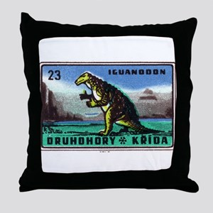Iguanodon Dinosaur Czech Matchbox Label Throw Pill