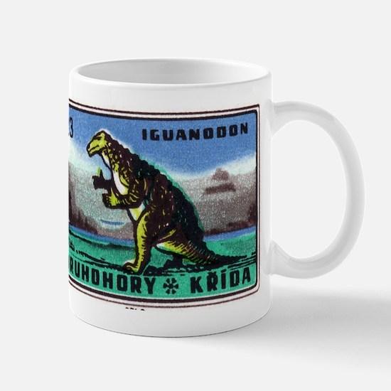 Iguanodon Dinosaur Czech Matchbox Label Mug