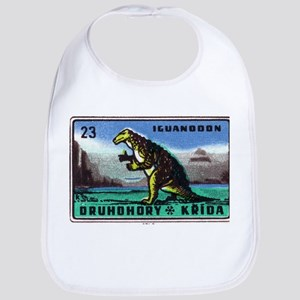 Iguanodon Dinosaur Czech Matchbox Label Bib