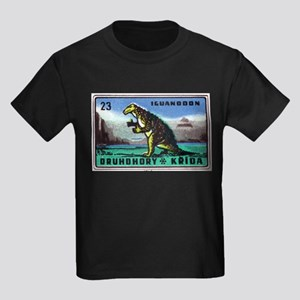 Iguanodon Dinosaur Czech Matchbox Label T-Shirt