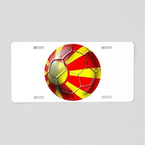 Macedonia Football Aluminum License Plate