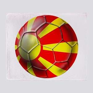Macedonia Football Throw Blanket