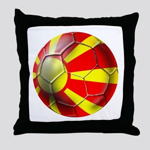 Macedonia Football Throw Pillow