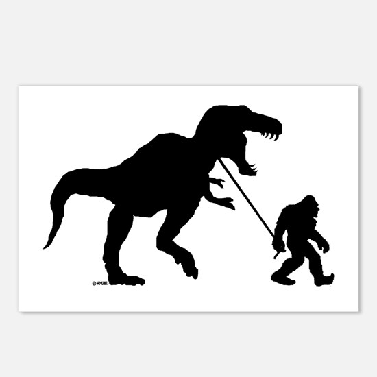 Gone Squatchin with T-rex Postcards (Package of 8)