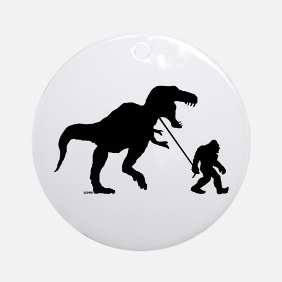 Gone Squatchin with T-rex Ornament (Round)