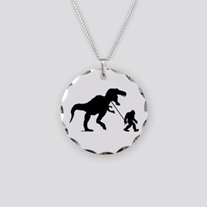 Gone Squatchin with T-rex Necklace
