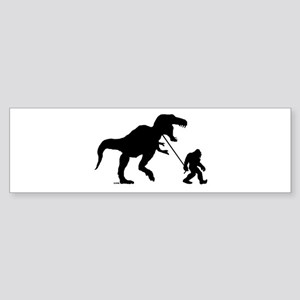 Gone Squatchin with T-rex Bumper Sticker