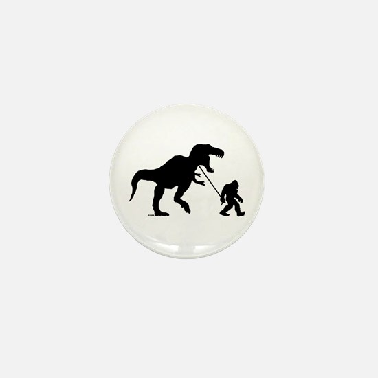 Gone Squatchin with T-rex Mini Button