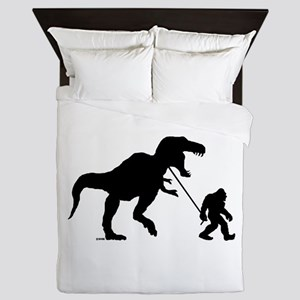 Gone Squatchin with T-rex Queen Duvet