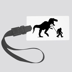 Gone Squatchin with T-rex Luggage Tag