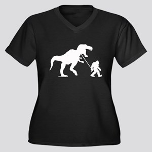 Gone Squatchin with T-rex Plus Size T-Shirt