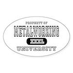 Metalworking University Oval Sticker