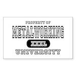 Metalworking University Rectangle Sticker