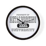 Metalworking University Wall Clock