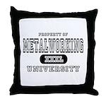 Metalworking University Throw Pillow