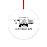 Metalworking University Ornament (Round)