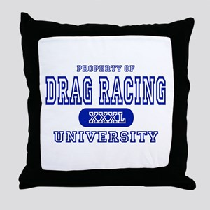 Drag Racing University Throw Pillow