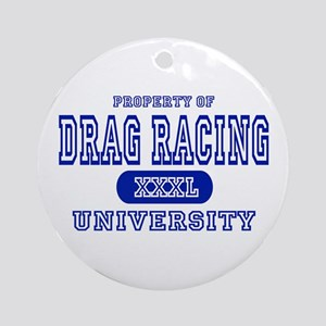Drag Racing University Ornament (Round)