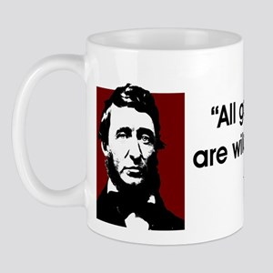 Thoreau. All good things... Mug