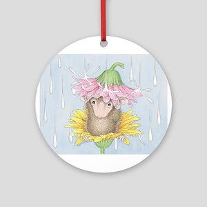 Rainy Daisy Day Ornament (Round)