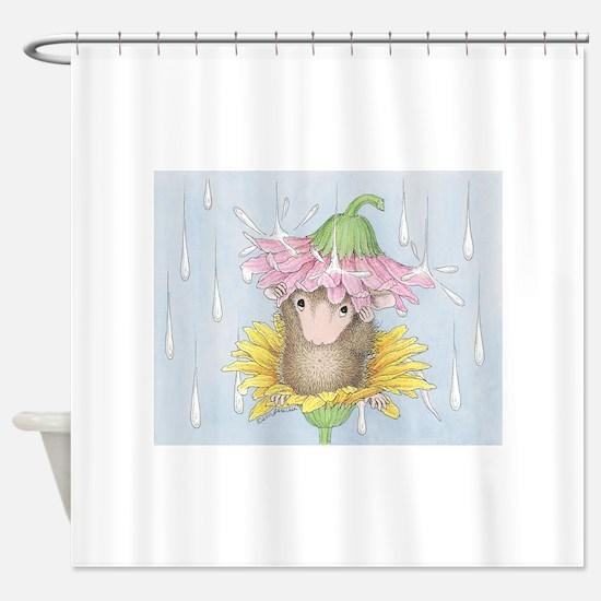 Rainy Daisy Day Shower Curtain