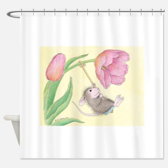 Tulip Tree-Swing Shower Curtain
