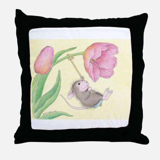 Tulip Tree-Swing Throw Pillow