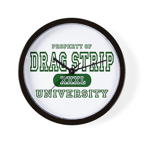 Drag Strip University Wall Clock