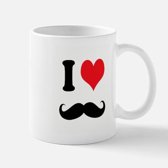 I Heart Mustaches Mug
