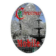 Mobile AlabamaOval Ornament