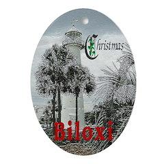 Biloxi Oval Ornament