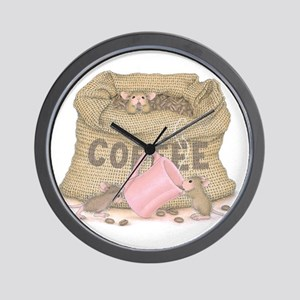 The Need for Caffeine Wall Clock