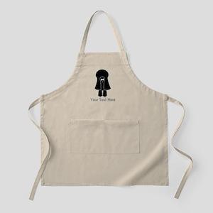 Black Toy Poodle Dog. Gray Text. Apron