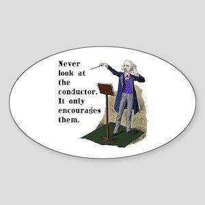 Conductor Oval Sticker