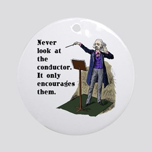 Conductor Ornament (Round)