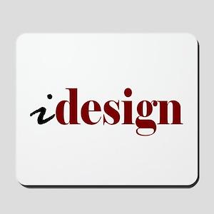 "I ""Design"" (red) Mousepad"