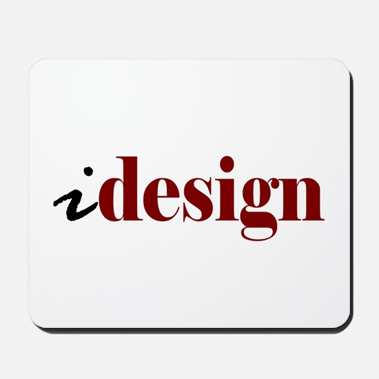 "I ""Design"" (red) Mousepad"