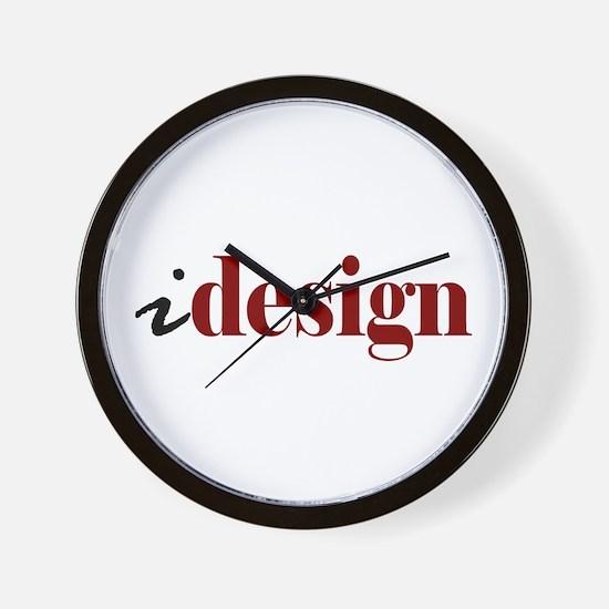 "I ""Design"" (red) Wall Clock"