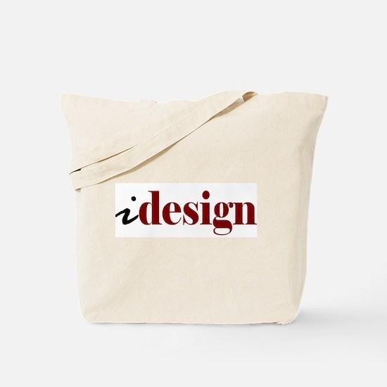 """I """"Design"""" (red) Tote Bag"""