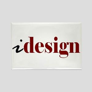"""I """"Design"""" (red) Rectangle Magnet"""