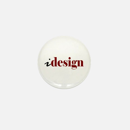 "I ""Design"" (red) Mini Button"