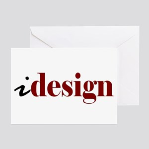 "I ""Design"" (red) Greeting Cards (Pk of 10)"