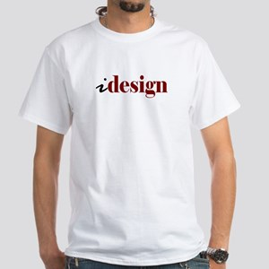 "I ""Design"" (red) White T-Shirt"